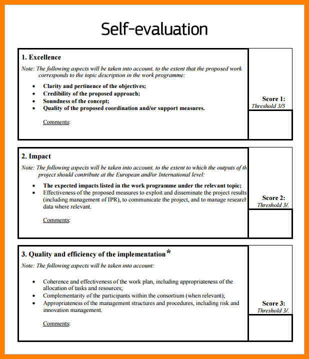 employee evaluation samples