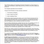 employee handbook examples printable sample employee handbook