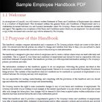 employee handbook examples sample employee handbook pdf