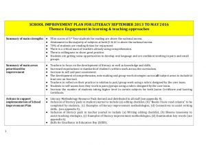 employee improvement plan handout sse case study school school improvement plan for literacy