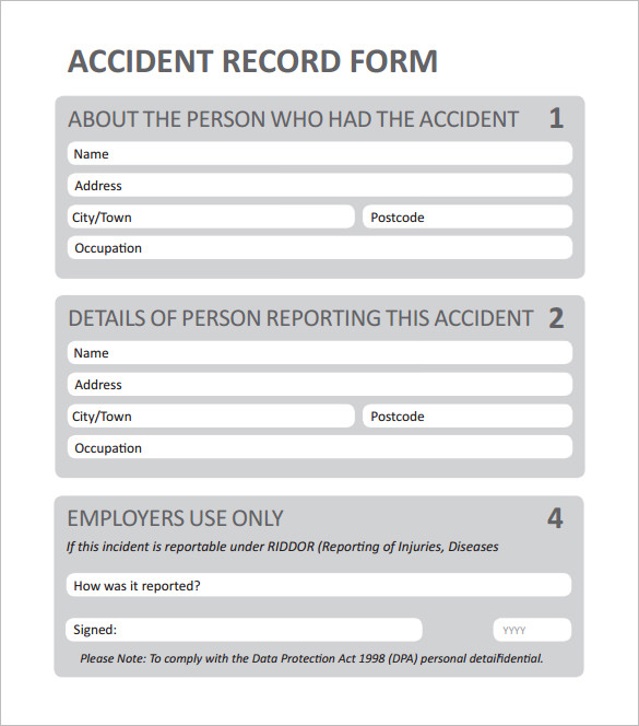 employee incident reports