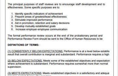 employee performance evaluation samples supervisor evaluation form