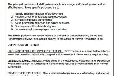 employee performance evaluation samples supervisor evaluation form