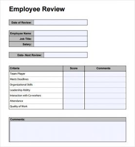 employee performance review template employee performance review template teopd