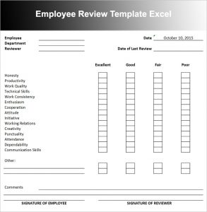 employee performance review template employee performance review template xomnpi