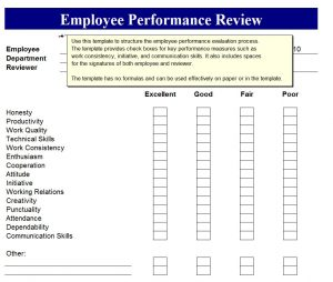 employee performance review template word employee review template hjybtob