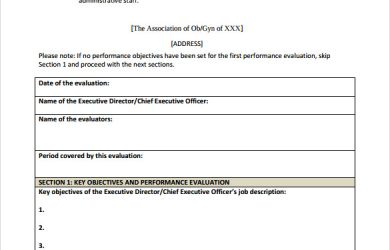 employee performance review template word simple performance evaluation form
