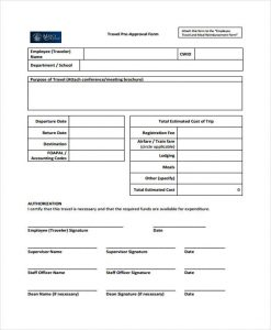 employee reimbursement form employee travel approval form