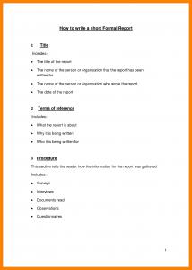 employee resign letter formal report example short formal report sample