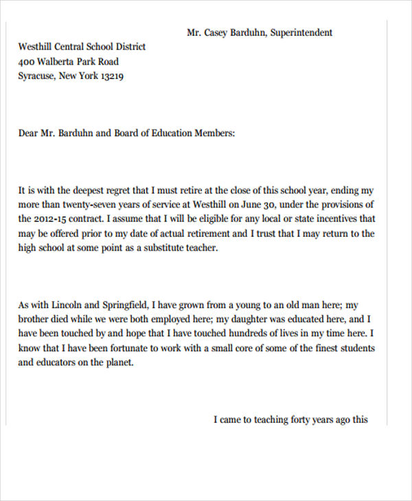 Resignation letter teacher carnavalsmusic recent posts altavistaventures Images
