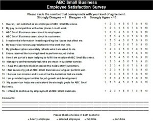 employee satisfaction survey small business employee satisfaction