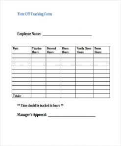 employee time sheet pdf employee vacation tracking form