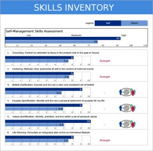 employee time sheet pdf personal skills inventory template