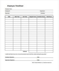 employee timesheet template employee time sheet