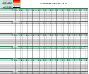 employee vacation tracking excel calendar templates free employee vacation tracking