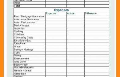 employee verification form monthly budget checklist ffecaceaffada