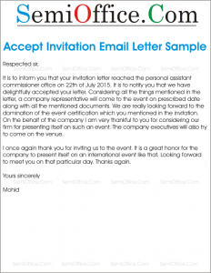 employee welcome letter accept invitation email sample