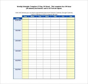 employee work schedule template hours schedule templates free word excel pdf format with regard to hour daily schedule template