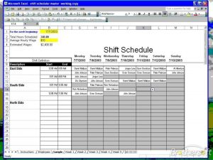 employee work schedule template shift scheduler for excel