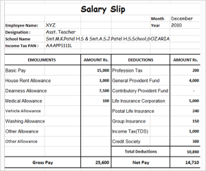 employee write up templates download salary slip template
