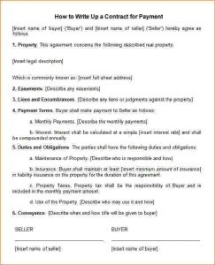 employee write up templates how to write a contract agreement how to write up a contract for payment