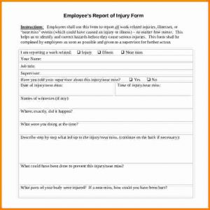 employee write ups templates employee write up template employee injury report form write up template example