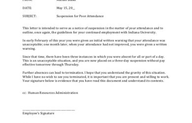 employee written warning form corrective action