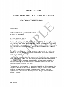employee written warning form student disciplinary action letter sample