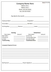 employees loan agreement payslip template doc