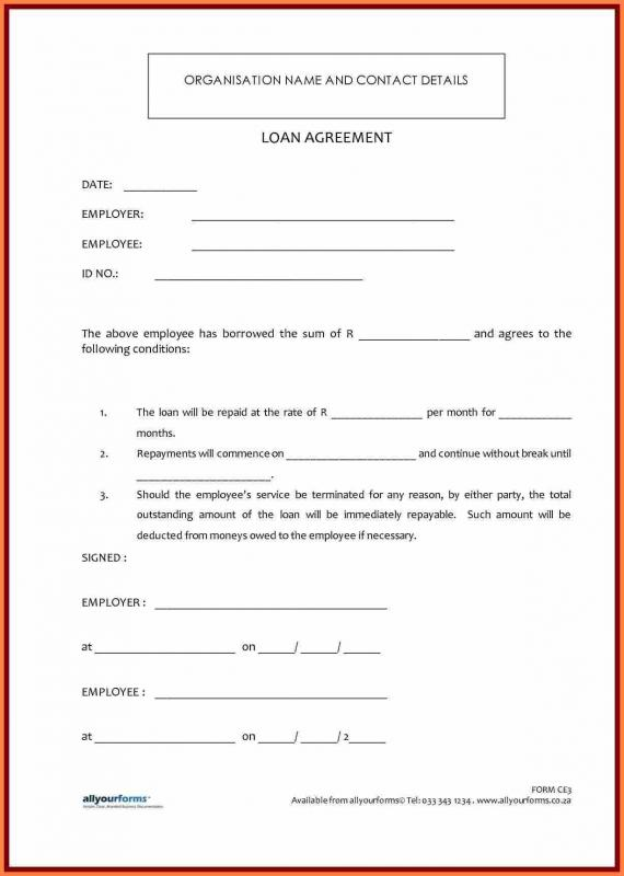 employees loan agreement