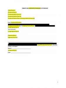 employees warning letter doc