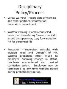 employees warning letter employee safety discipline