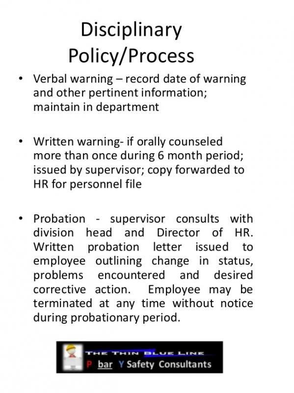 employees warning letter