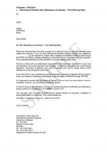 employees warning letter student attendance letter sample