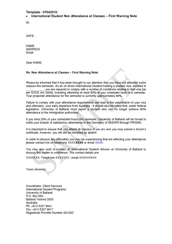 Employees Warning Letter | Template Business