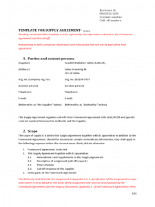 employment agreement template template for supply agreement d