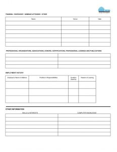 employment application form pdf template business