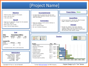 employment application form template project status report exec status