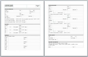employment application template employment application template