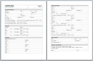 employment application template template business