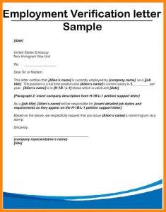 employment confirmation letter employment confirmation letter employment verification letter sample