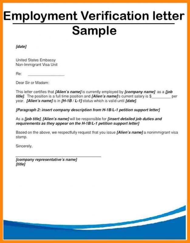 employment confirmation letter
