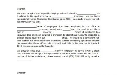 employment confirmation letter proof of employment letter