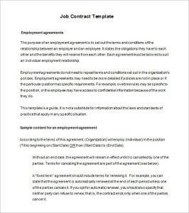 Employment Contract Template Job Contract Templates Free Word Pdf Documents  Download In Employment Contract Template Free