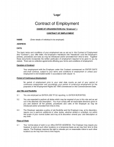 employment contract template employment contract sample