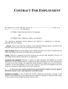employment contract template employment contract template