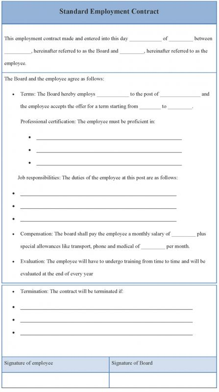 Employment Contract Template  Template Business