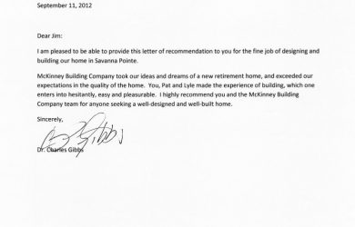 employment reference letter charles gibbs testimonial