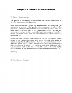 employment reference letter sample sample recommendation letter for job fvseys