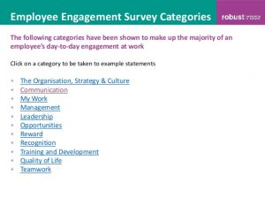 employment satisfaction survey questions sample employee engagement survey questions